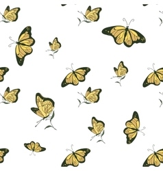 colored doodle butterfly pattern vector image vector image