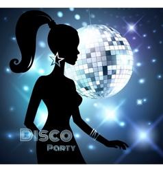Disco Party invitation vector image vector image