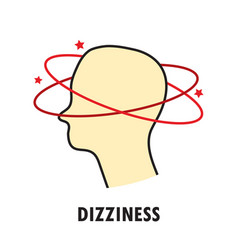 dizziness logo or icon template vector image vector image
