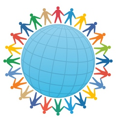 global community vector image