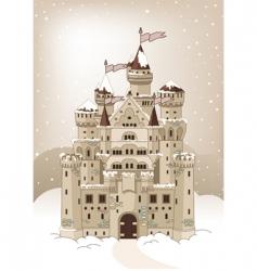 magic winter castle invitation card vector image vector image