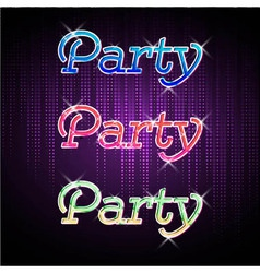 Neon sign disco party vector