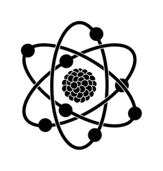 black silhouette of atom structure vector image vector image