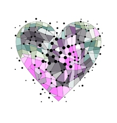 Broken heart on a white background vector image