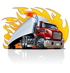 Cartoon semi truck one-click repaint vector