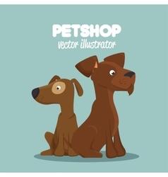 cute dogs pet shop clinic veterinary design vector image vector image