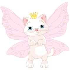 Cute Fairy Cat vector image vector image