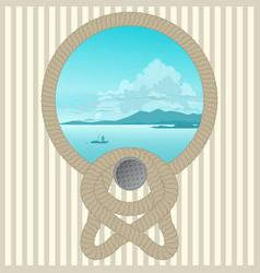 marine picture with a rope vector image vector image