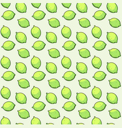 seamless pattern with limes vector image