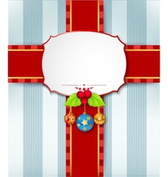 Christmas card background with ribbon vector image vector image