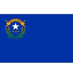 Flag of Nevada in correct size and colors vector image