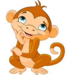 Monkey Thinking vector image