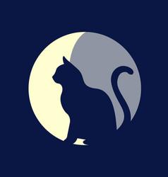 moon cat vector image