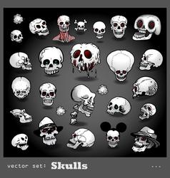 Set of skulls vector