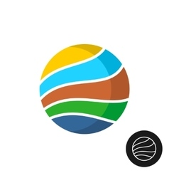 Travel theme round badge logo vector image