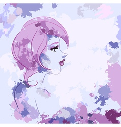 Watercolor likeness profile vector image vector image