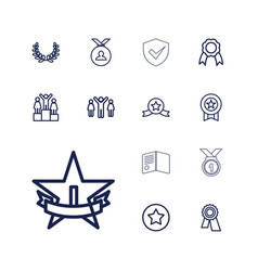 13 award icons vector