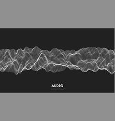 3d echo audio wavefrom spectrum abstract vector