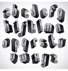 3d geometric bold font vector