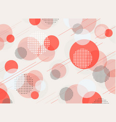 abstract living coral color geometric pattern vector image