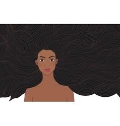 African beauty girl vector