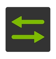 Arrows Exchange Horizontal flat eco green and gray vector