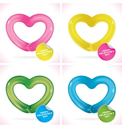 Balloon Happy Valentines Day Greeting Cards vector