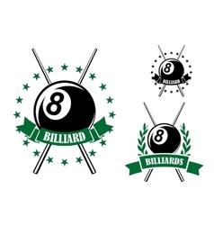 Billiards or pool sporting emblem vector image
