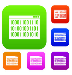 Binary code set collection vector