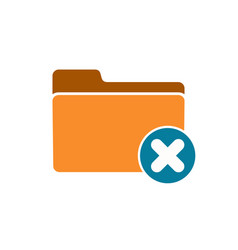 cancel close delete exit folder logout remove icon vector image