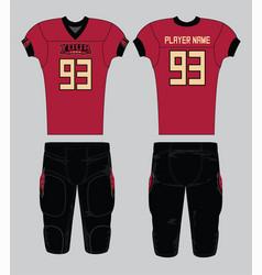 Cardinal color base american football jersey vector