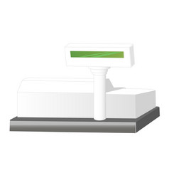 cash register isolated on white background cash vector image