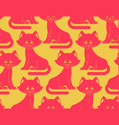 cat seamless pattern pet ornament animal texture vector image