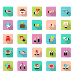 charity sponsorshipdonation and donor icon set in vector image