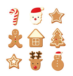 Christmas color cookies vector