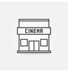 Cinema building icon vector
