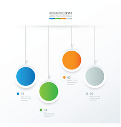 Circle hanging concept blue green orange gray vector