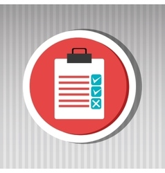 Clipboard check list icon vector