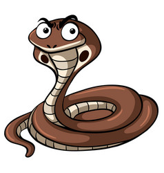 Cobra snake with serious face vector