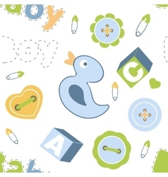 Colorful baby boy seamless pattern vector image