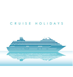 Cruise liner on a white background with text space vector
