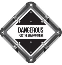 Dangerous for environment marking vector