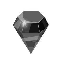 Diamond sparkling shining black color isolated on vector