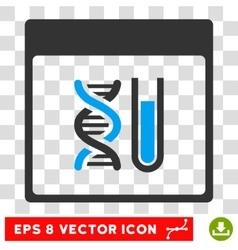 DNA Analysis Calendar Page Eps Icon vector