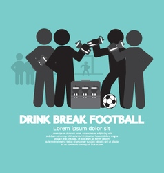 Drink break football symbol vector
