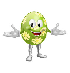 Easter egg man vector