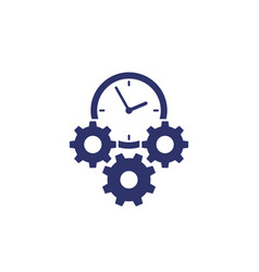 Efficiency and efficient process icon on white vector