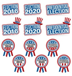 election titles and badges vector image
