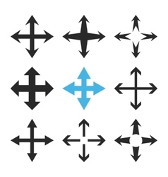 Expand Arrows Flat Icon Set vector