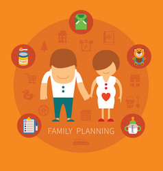 Family planning concept vector